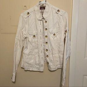 Jordache White Vintage Military Jacket